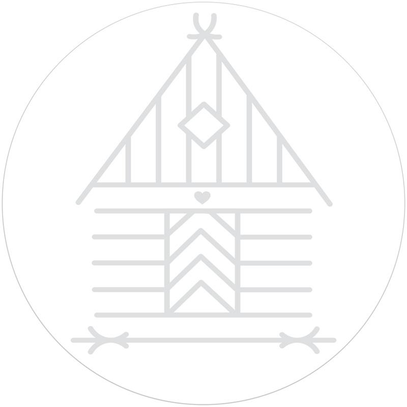 House Winter Scene Rubber Stamp