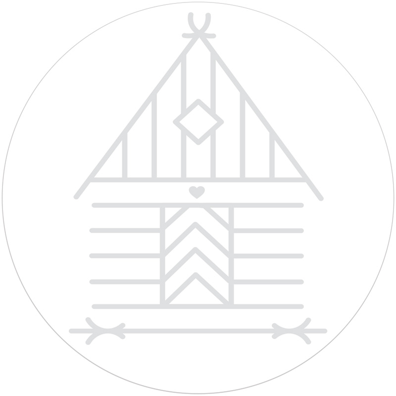 Dalmålning Border Rubber Stamp