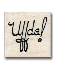Uff Da! Rubber Stamp