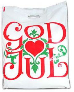 God Jul Plastic Gift Bags