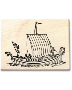 Leif Erikson Boat Rubber Stamp