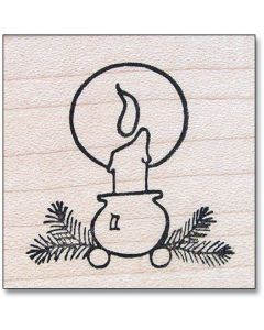Swedish Ball-Footed Candleholder Rubber Stamp