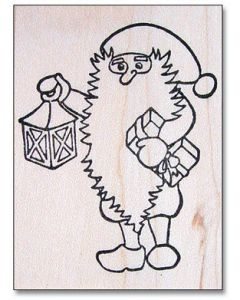 Tomte with Lantern Rubber Stamp
