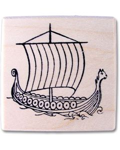 Viking Ship Rubber Stamp