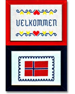 Kathy's Swedish or Norwegian Flag & Welcome Charts