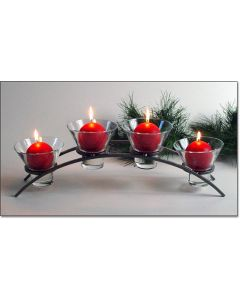 Danish Iron 4 Cup Arch Candleholder