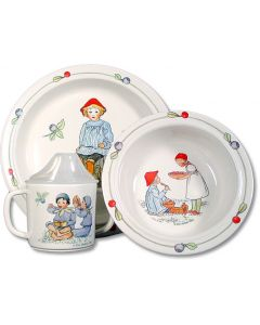 Children's Blueberry Dish Set
