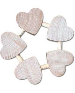 Five Heart Wood Trivet