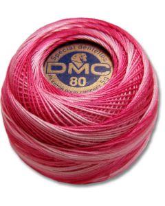 DMC Tatting Thread - Bright Pink and White