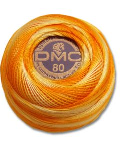 DMC Tatting Thread - Yellow Orange and White