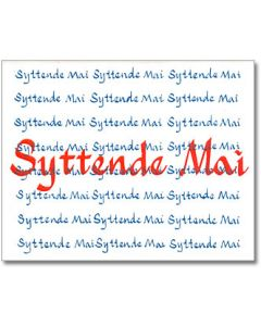 Syttende Mai Greeting Card