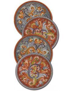 Toftey Rosemaling Design Coasters