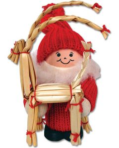 Tomte with Straw Goat