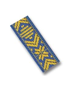 Cross Pattern Braid - Yellow & Blue