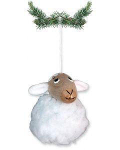 Fuzzy Lamb Ornament