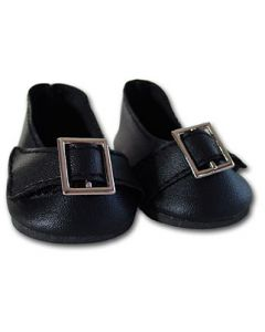 Black Buckle Doll Shoes