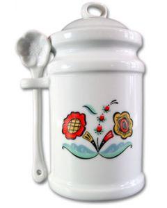 Swedish Flower Jam Jar