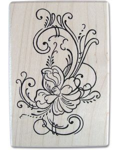 "The ""Rose"" Rubber Stamp"