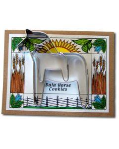 Dala Horse Cookie Cutter Card