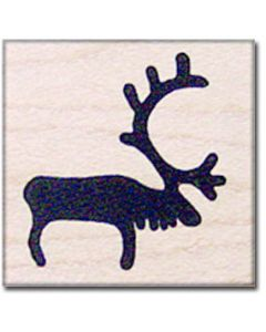 Reindeer Rubber Stamp