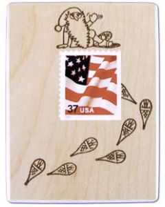Tomte Postage Stamp Frame Rubber Stamp