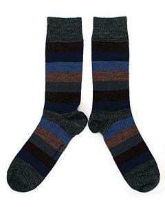 Bengt & Lotta Grey Stripey Socks