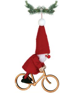 Bicyclist Tomte Ornament