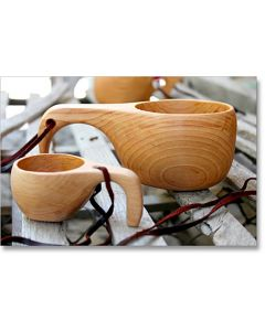 Handcrafted Alderwood Bird Cups