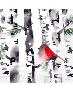 Bird in Birch Napkins