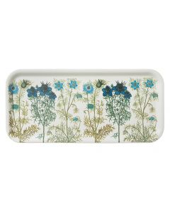 Blue Melanthium Flowers Birch Tray