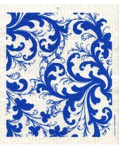 Blue Rosemaling Dishcloth