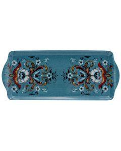 Blue Rosemaling Tray