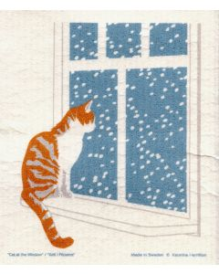 Cat at Window Dishcloth