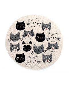 Cat's Meow Braided Trivet