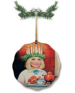 Ceramic Young Lucia Ornament