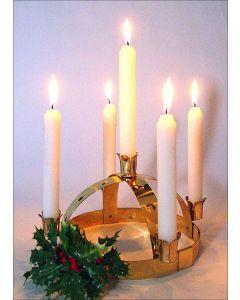 Brass Lucia Crown Candleholder