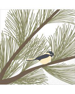 Chickadee & Pine Napkins