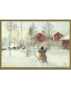 Carl Larsson's The Yard and Washhouse Holiday Cards