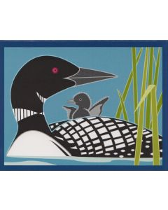 Cindy Lindgren Card - Loon & Baby