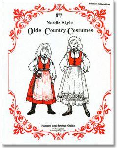 Little Girl's Nordic Folk Costume Pattern #877  Sizes 2-6