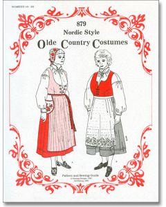 Women's Nordic Folk Costume Pattern #879 Sizes18W-28W