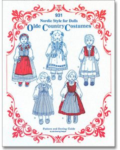 Doll Costume Pattern #931