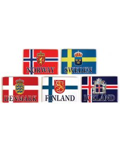 Country Flag & Crest Magnets