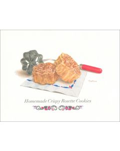 Homemade Crispy Rosette Cookies Card