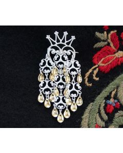 Crown Sølje Brooch