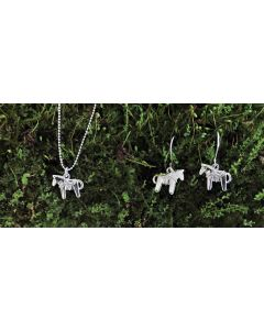 Dala Horse Necklace and Earrings