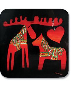 Dala Moose and Horse Trivet