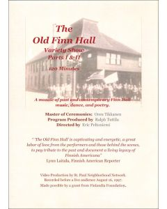 The Old Finn Hall Variety Show and Dance DVD