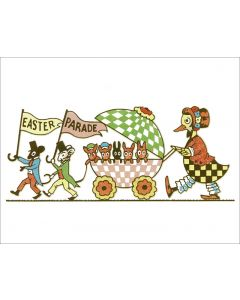 Vintage Easter Card - Parade