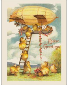 Vintage Easter Card - Zeppelin